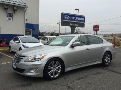 Platinum Silver Metallic 2012 Hyundai Genesis 3.8 Sedan