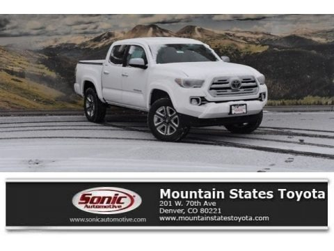 Super White 2018 Toyota Tacoma Limited Double Cab 4x4
