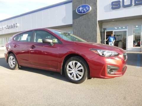Crimson Red Pearl 2018 Subaru Impreza 2.0i 5-Door