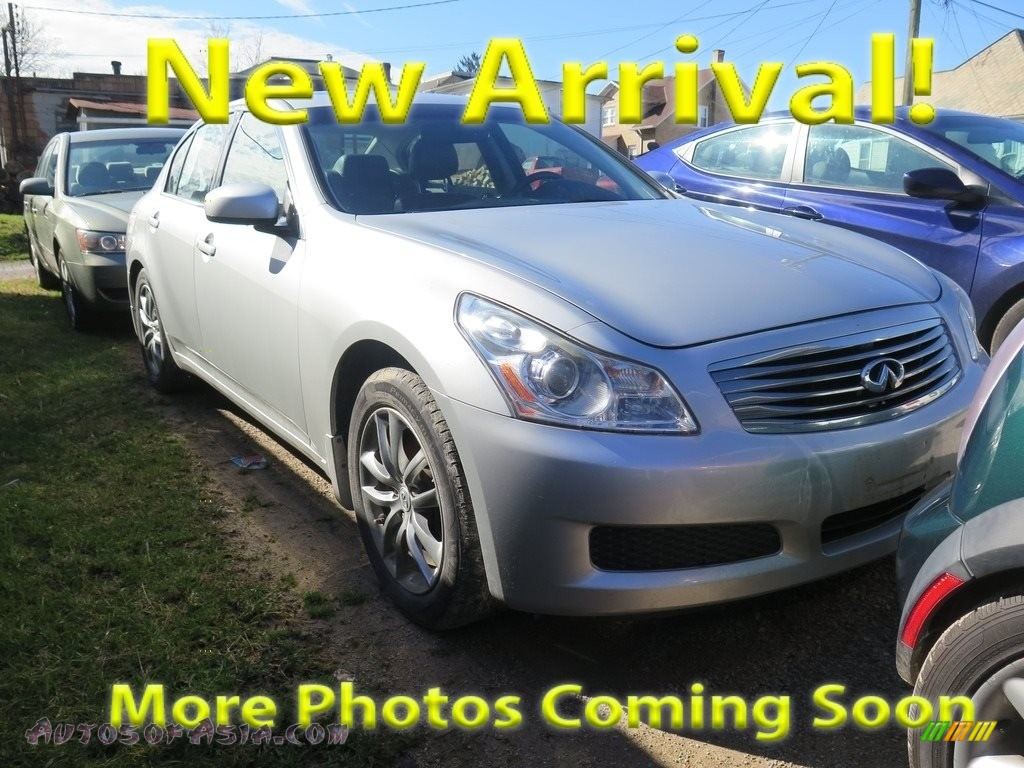 2008 G 35 x Sedan - Liquid Platinum Silver / Graphite photo #1