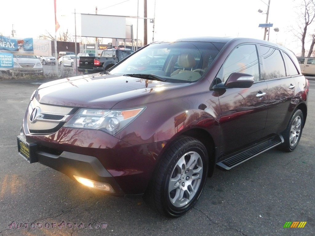 Dark Cherry Red Pearl / Taupe Acura MDX Technology