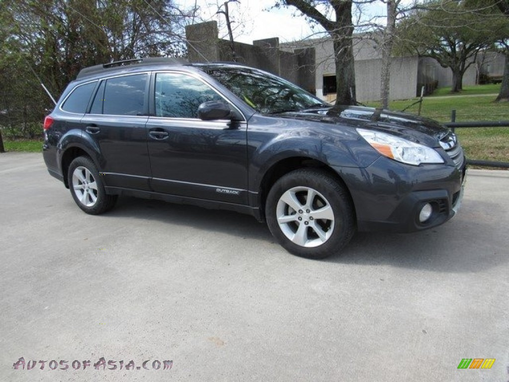 2013 Outback 2.5i Limited - Graphite Gray Metallic / Off Black Leather photo #1