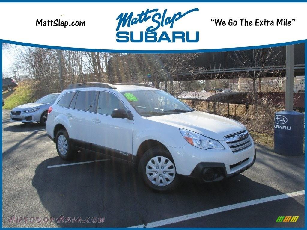 Satin White Pearl / Ivory Subaru Outback 2.5i Premium