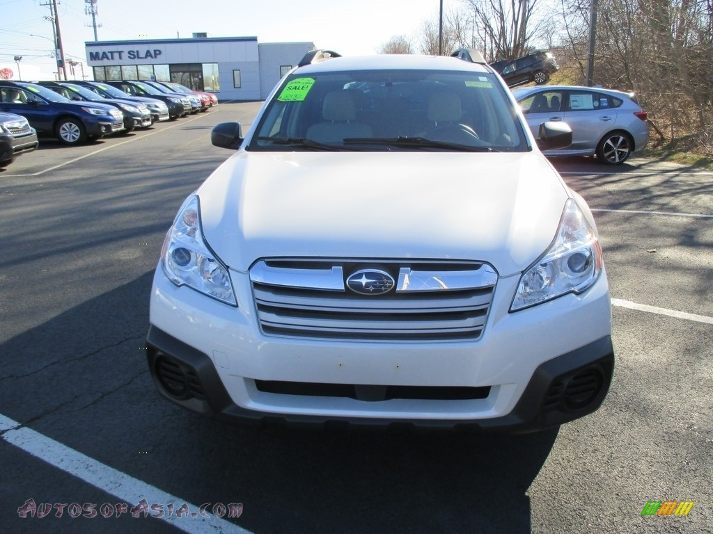 2014 Outback 2.5i Premium - Satin White Pearl / Ivory photo #3
