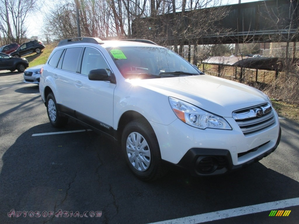 2014 Outback 2.5i Premium - Satin White Pearl / Ivory photo #4