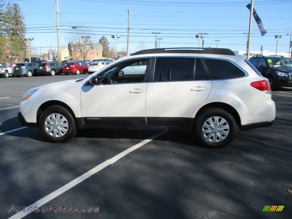 2014 Outback 2.5i Premium - Satin White Pearl / Ivory photo #9