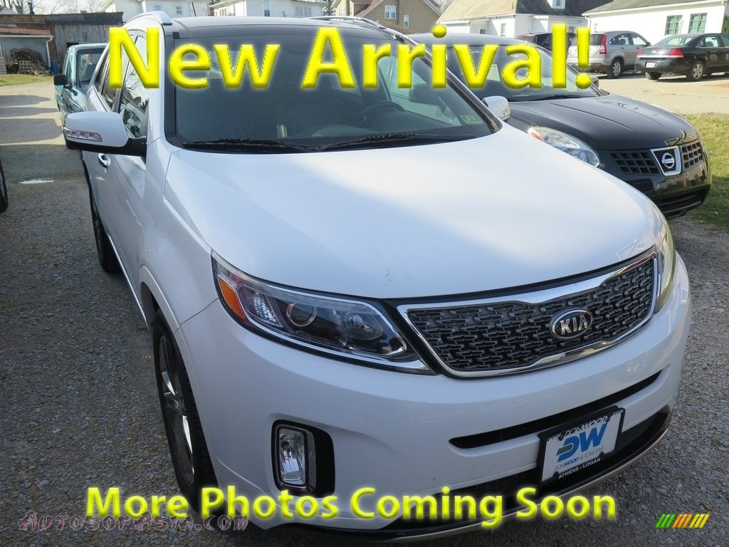 2014 Sorento SX V6 AWD - Snow White Pearl / Black photo #1