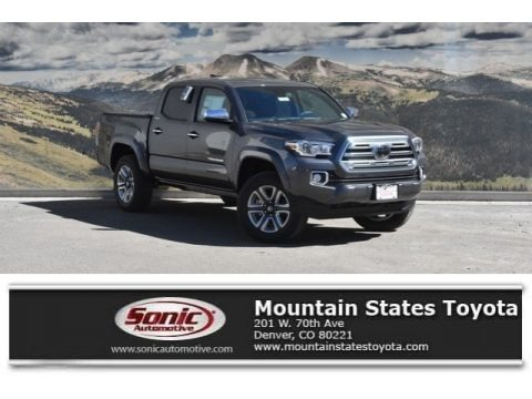Magnetic Gray Metallic 2018 Toyota Tacoma Limited Double Cab 4x4