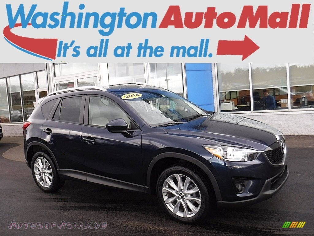2014 CX-5 Grand Touring AWD - Stormy Blue Mica / Sand photo #1
