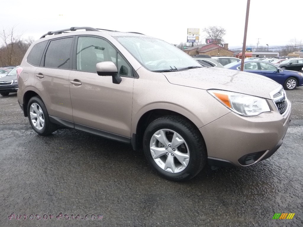 2015 Forester 2.5i Premium - Burnished Bronze Metallic / Gray photo #1