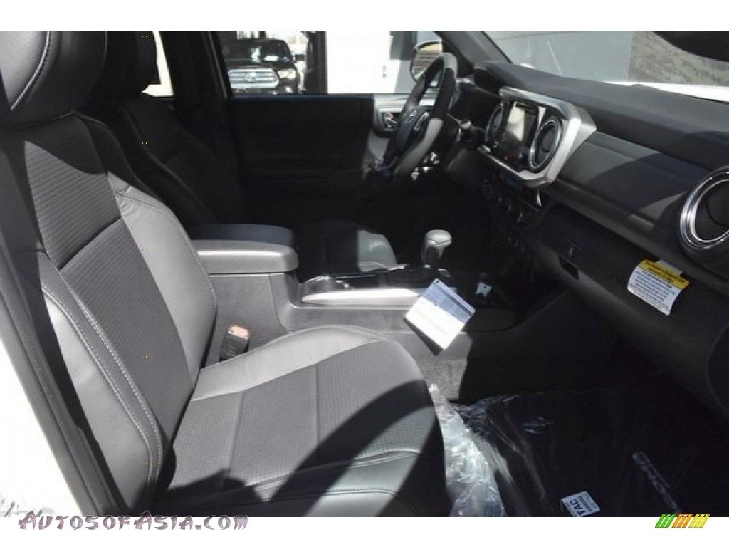 2018 Tacoma Limited Double Cab 4x4 - Super White / Black photo #12