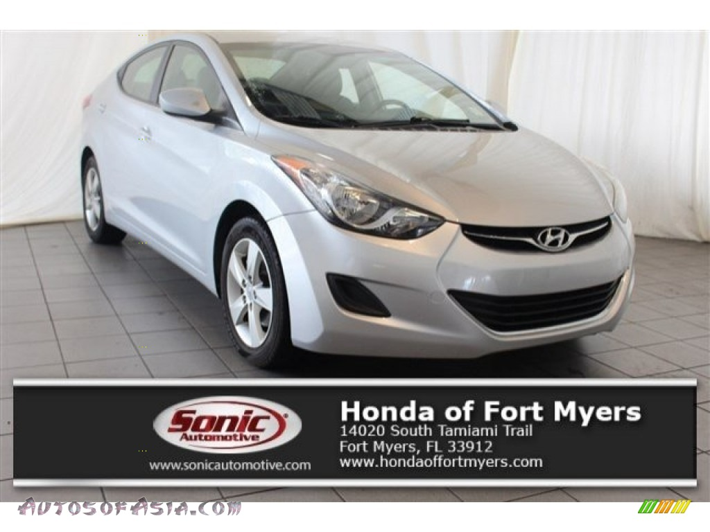 2011 Elantra GLS - Radiant Silver / Gray photo #1