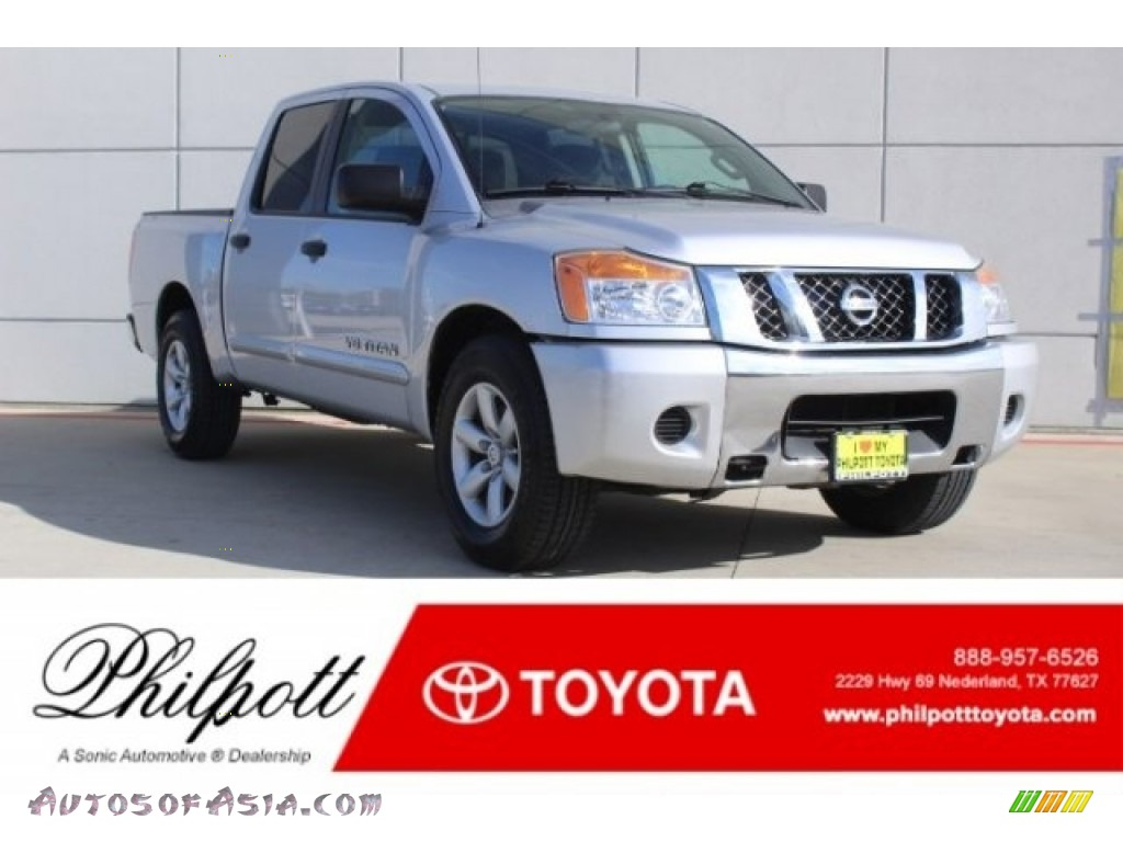 2012 Titan SV Crew Cab - Brilliant Silver / Charcoal photo #1