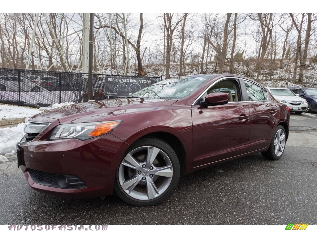 2013 ILX 2.0L Premium - Crimson Garnet / Parchment photo #1