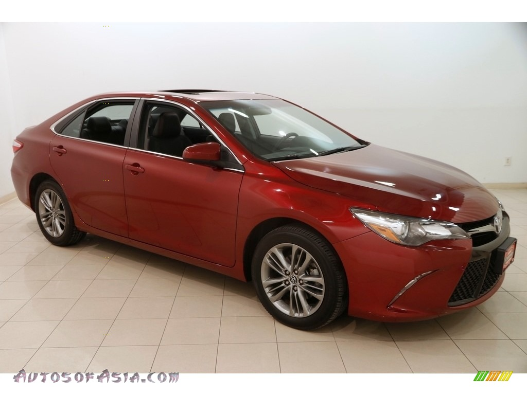 2015 Camry SE - Ruby Flare Pearl / Black photo #1