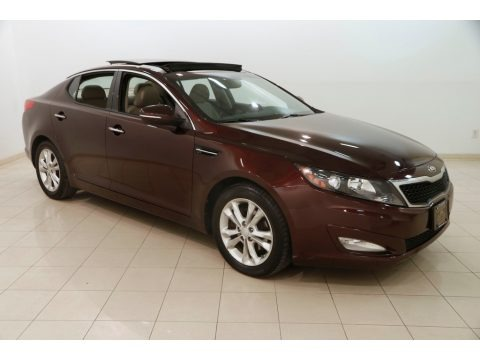 Dark Cherry Pearl Metallic 2013 Kia Optima EX