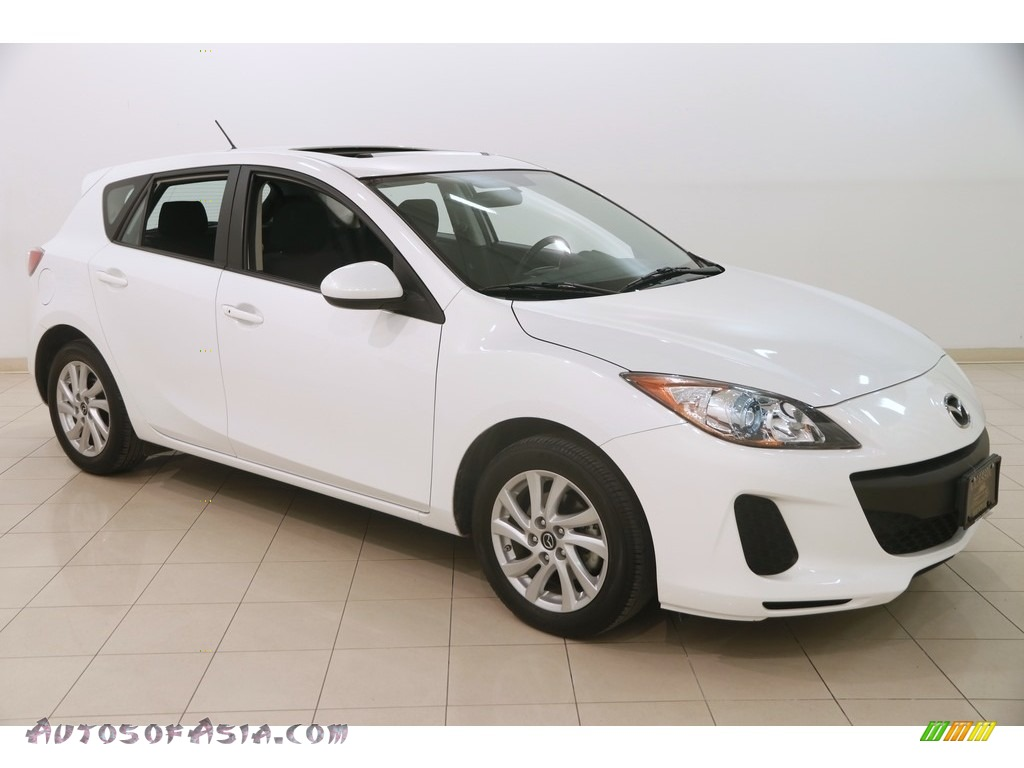 2013 MAZDA3 i Touring 5 Door - Crystal White Pearl Mica / Black photo #1