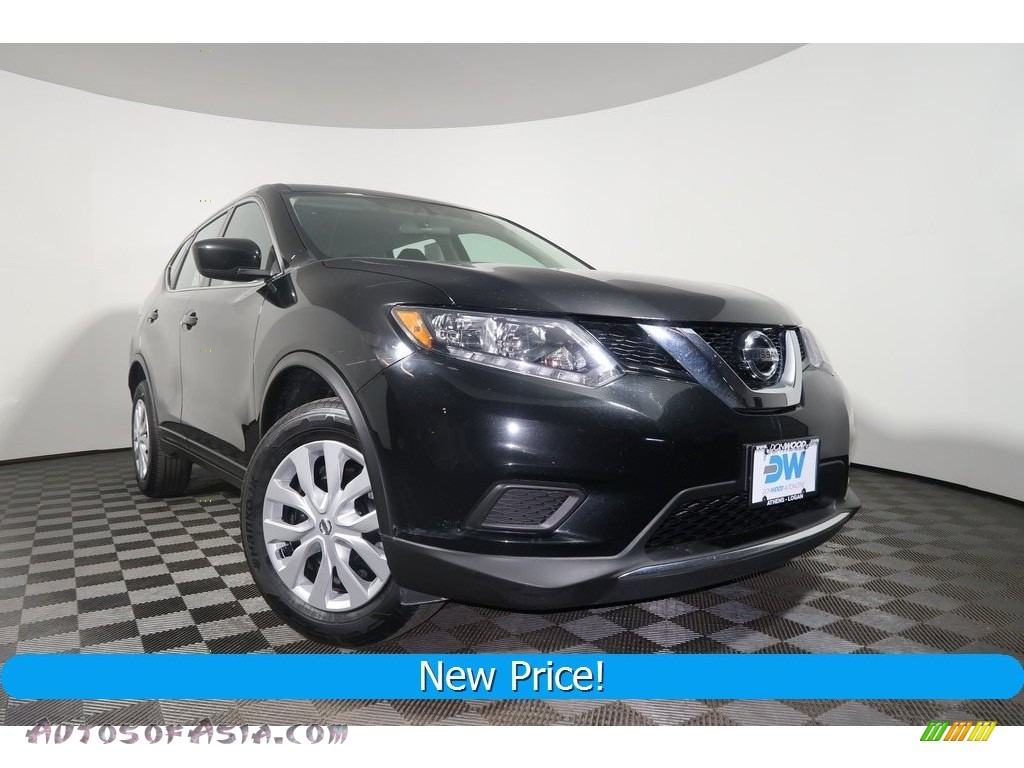 2016 Rogue S AWD - Magnetic Black / Charcoal photo #1