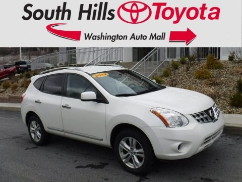 Pearl White 2012 Nissan Rogue SV AWD