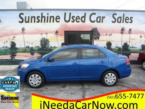 Blue Streak Metallic 2010 Toyota Yaris Sedan