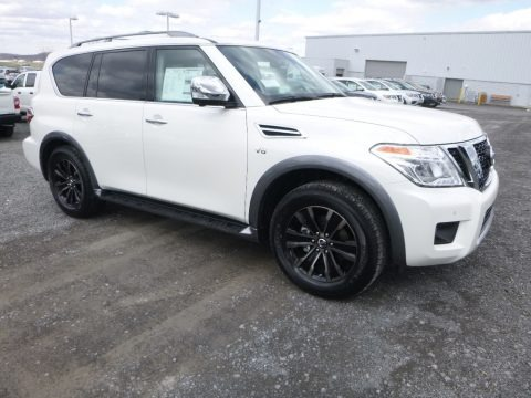 Pearl White 2018 Nissan Armada Platinum AWD