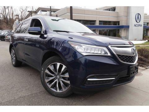 Fathom Blue Pearl 2016 Acura MDX SH-AWD Technology