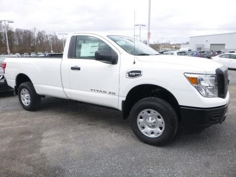 Glacier White 2018 Nissan TITAN XD S Single Cab 4x4