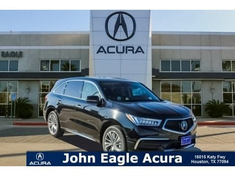 Crystal Black Pearl 2018 Acura MDX Technology