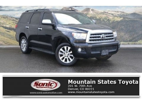 Black 2008 Toyota Sequoia Limited 4WD
