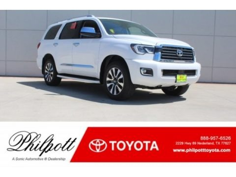 Super White 2018 Toyota Sequoia Limited