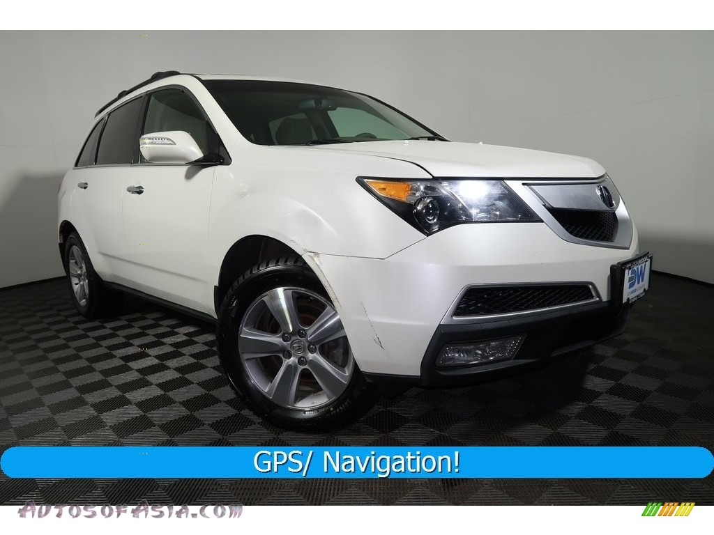 2010 MDX Technology - Aspen White Pearl / Ebony photo #1