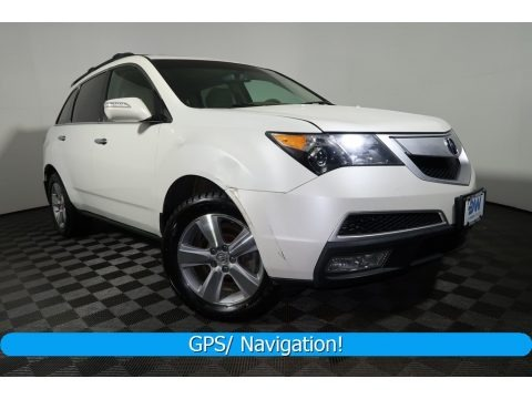 Aspen White Pearl 2010 Acura MDX Technology