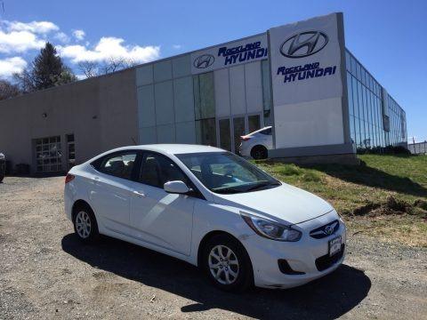 Century White 2013 Hyundai Accent GLS 4 Door