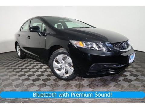 Crystal Black Pearl 2015 Honda Civic LX Sedan