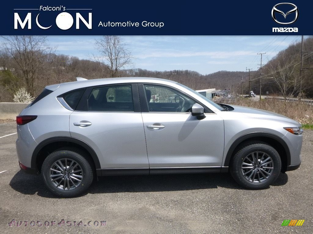 2018 CX-5 Sport AWD - Sonic Silver Metallic / Black photo #1