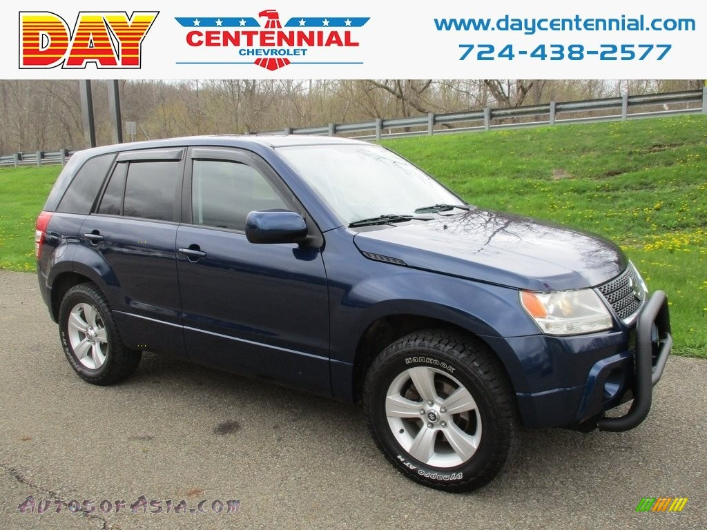 2010 Grand Vitara Premium 4x4 - Deep Sea Blue Metallic / Black photo #1