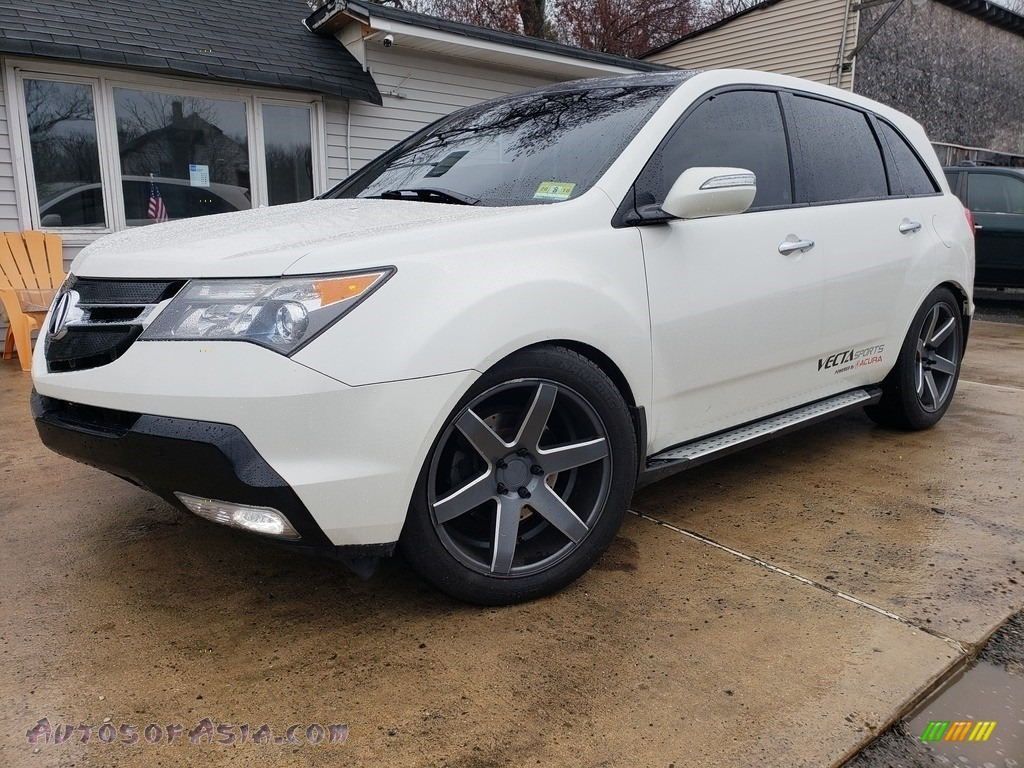 2009 MDX  - Aspen White Pearl / Ebony photo #1