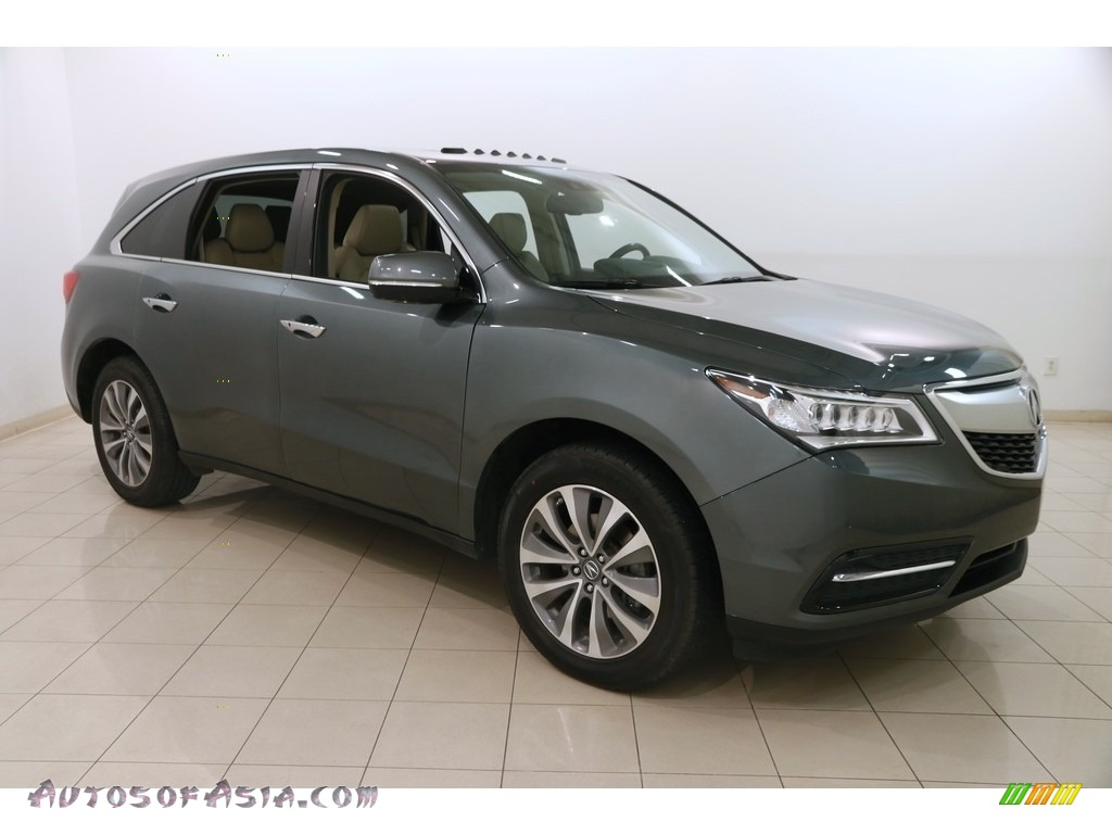 2015 MDX SH-AWD Technology - Forest Mist Metallic / Parchment photo #1