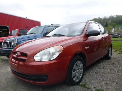Tango Red 2008 Hyundai Accent GS Coupe