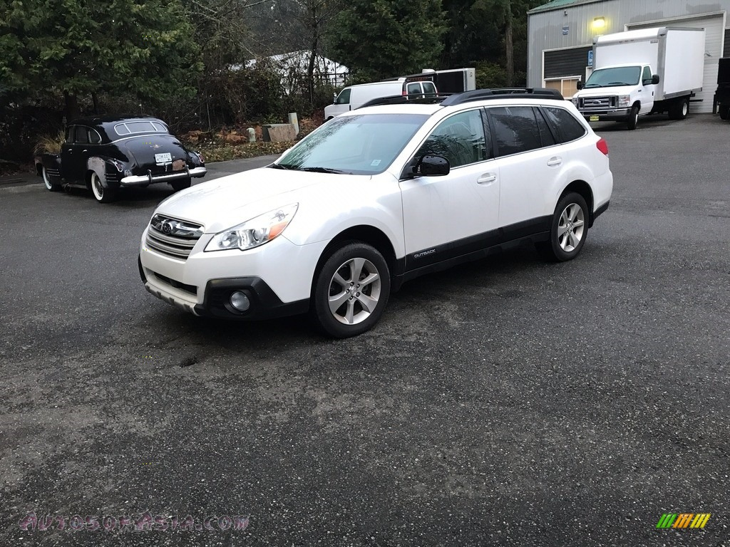 2014 Outback 2.5i Limited - Satin White Pearl / Ivory photo #1