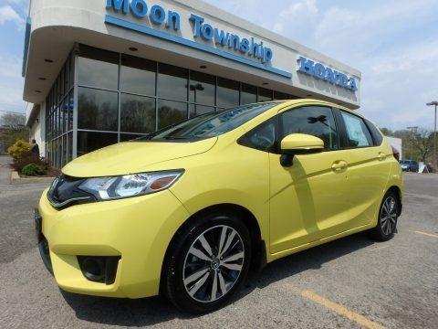 Mystic Yellow Pearl 2015 Honda Fit EX