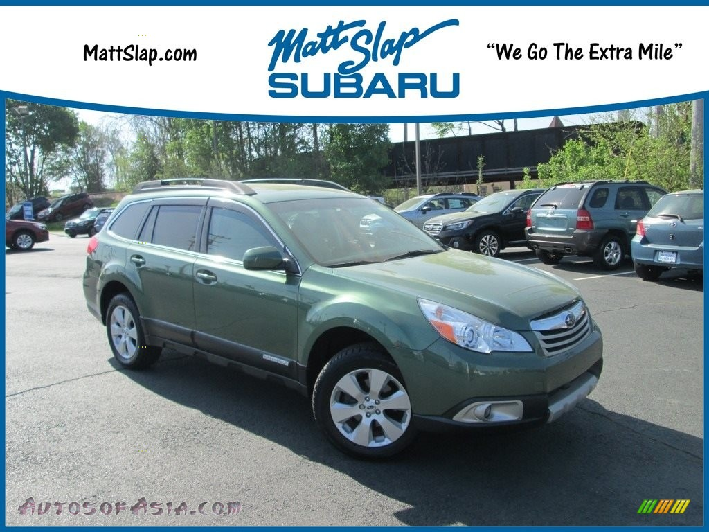 2012 Outback 2.5i Limited - Cypress Green Pearl / Warm Ivory photo #1