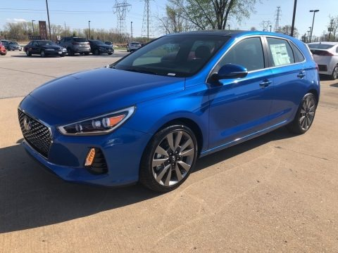 Electric Blue Metallic 2018 Hyundai Elantra GT Sport