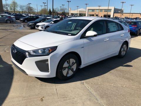 Ceramic White 2018 Hyundai Ioniq Hybrid Blue