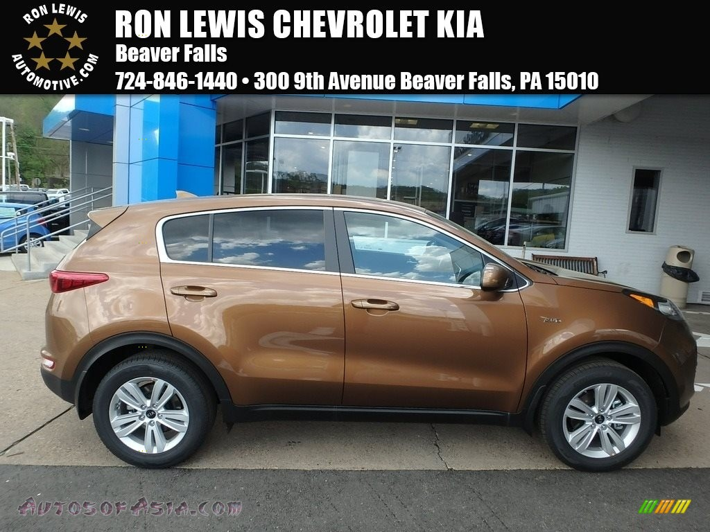 Burnished Copper / Black Kia Sportage LX AWD
