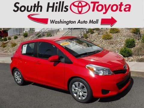 Absolutely Red 2012 Toyota Yaris LE 5 Door
