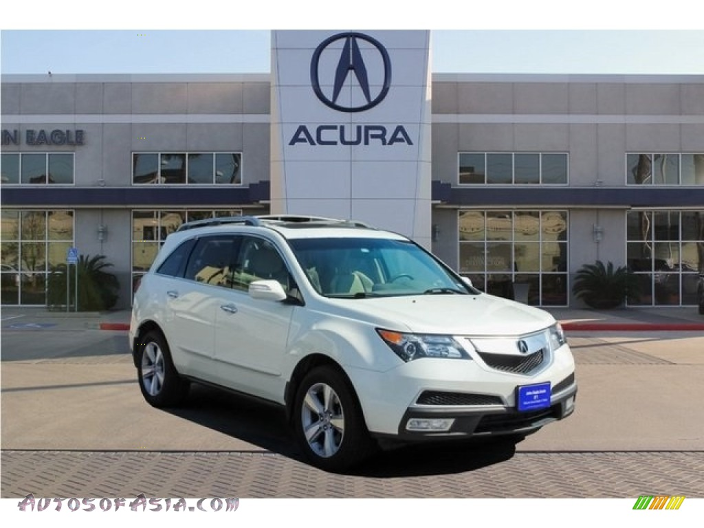 Aspen White Pearl / Parchment Acura MDX SH-AWD Technology