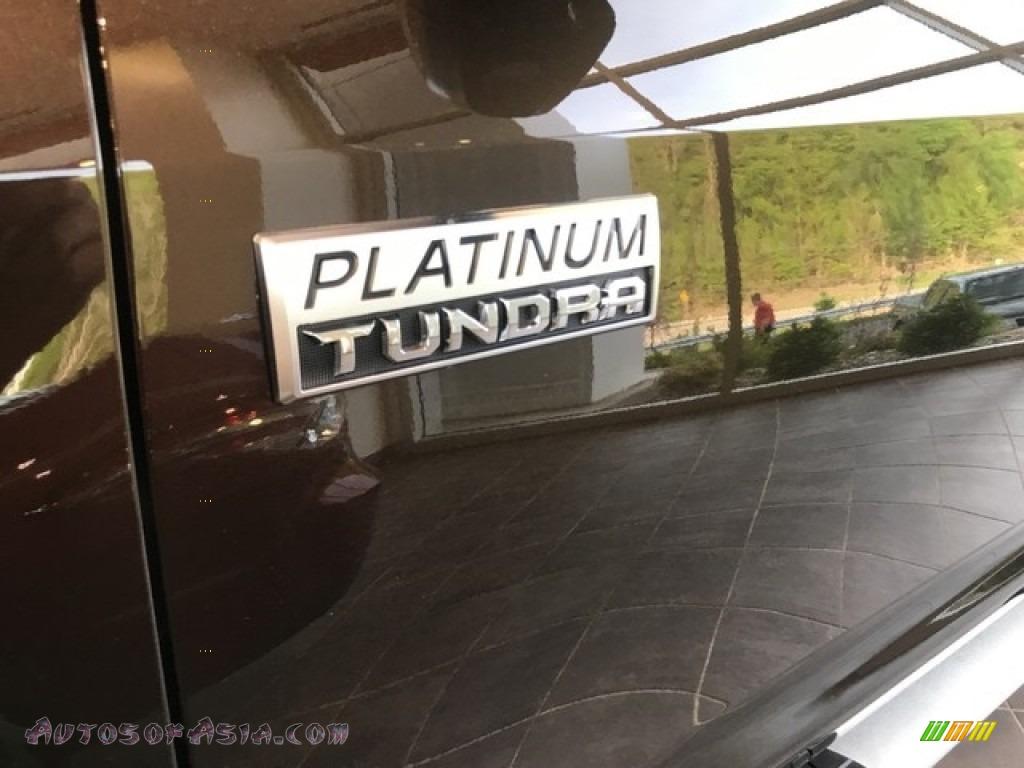 2018 Tundra Platinum CrewMax 4x4 - Smoked Mesquite / Black photo #8
