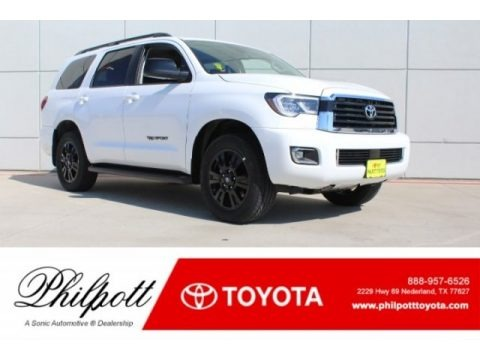 Super White 2018 Toyota Sequoia TRD Sport 4x4