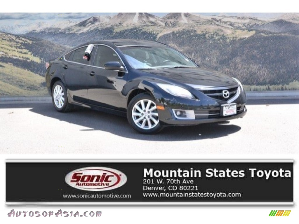 2012 MAZDA6 i Touring Sedan - Ebony Black / Black photo #1